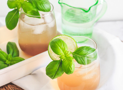 Basil Lime Gin + Tonic