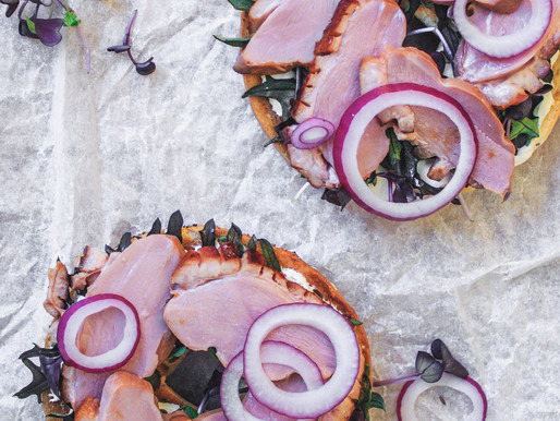 Tea Smoked Duck + Herbed Creme Fraiche New York Bagels