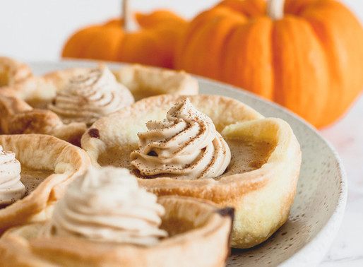 Mini Pumpkin Pies + Coffee Cream