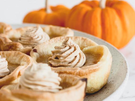 Mini Pumpkin Pies + Coffee Cream
