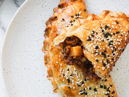 Chai + Curry Spiced Beef Pasties
