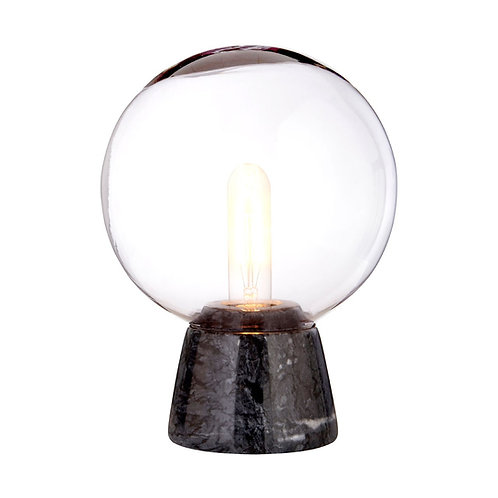 GLOBE LAMP WITH BLACK MARBLE BASE