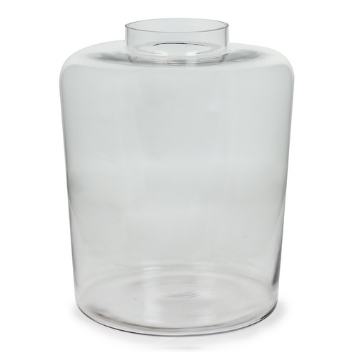 EXTRA LARGE CLEAR GLASS VASE