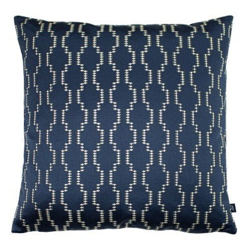 NAVY AND GOLD PATTERN CUSHION