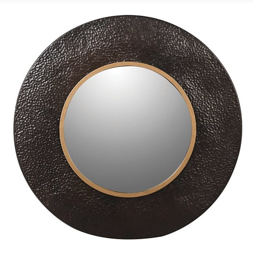 BROWN METAL TEXTURED MIRROR