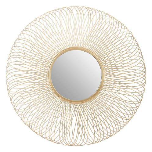LARGE GOLD WIRE MIRROR