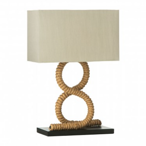 JUTE ROPE TABLE LAMP - EUROPEAN PLUG