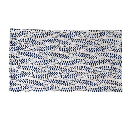 BLUE & WHITE FLORAL BLOCK PRINT PLACEMATS - SET OF 4