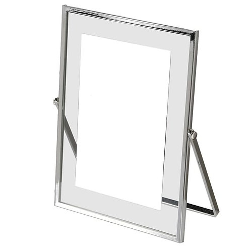 """SILVER PLATED CLEAR EDGE PHOTO FRAME 5""""X7"""""""