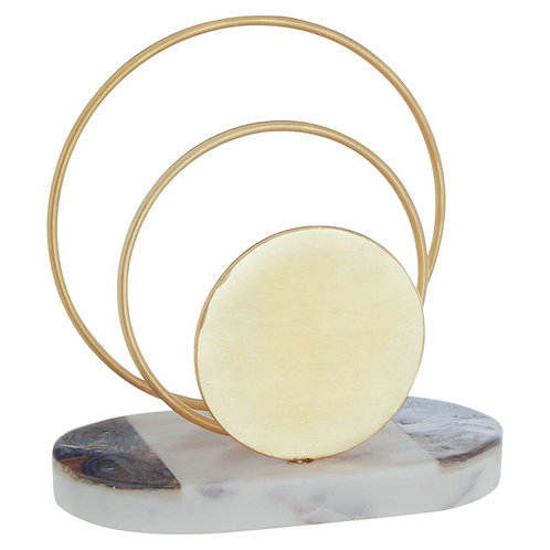 MARBLE AND GOLD LETTER RACK