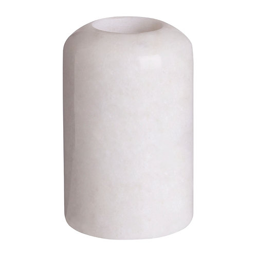 WHITE DOMED MARBLE CANDLE HOLDER