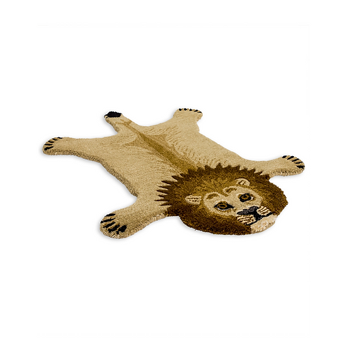 SMALL HAND TUFTED LION RUG