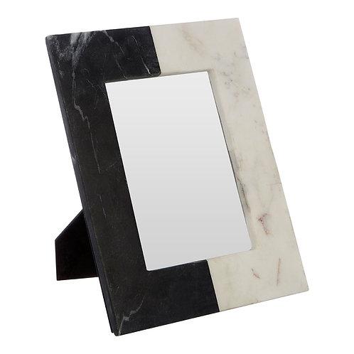 "DARK GREY AND WHITE MARBLE PHOTO FRAME - 5"" X 7"""