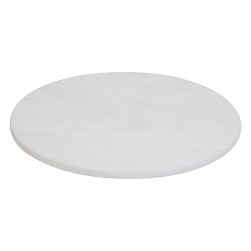 ROUND WHITE MARBLE CHOPPING BOARD