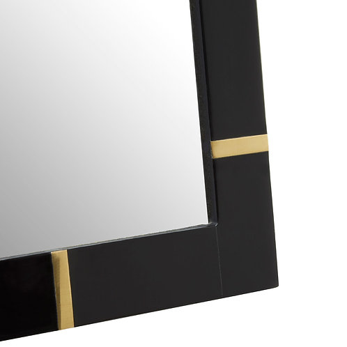 "BLACK WITH GOLD INLAY PHOTO FRAME - 8""X10"""