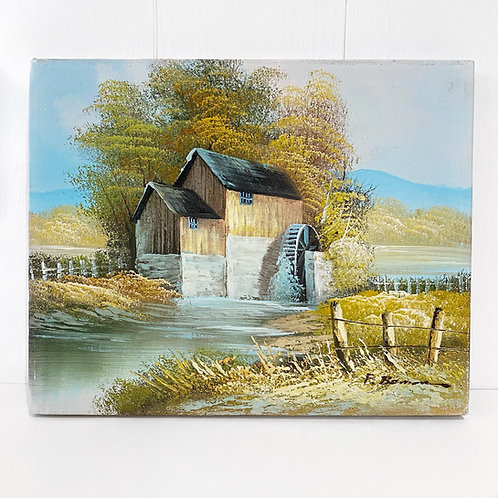 THE WATERMILL - OIL ON CANVAS
