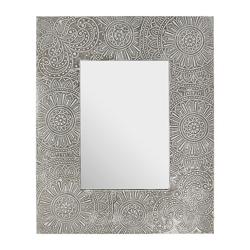 """SILVER PATTERNED PHOTO FRAME - 5""""X7"""""""