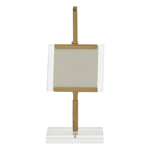SMALL GOLD EASEL PICTURE FRAME