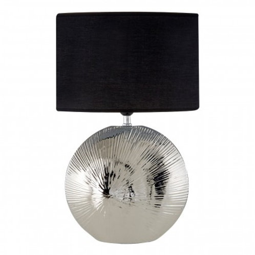 Etched Silver Table Lamp