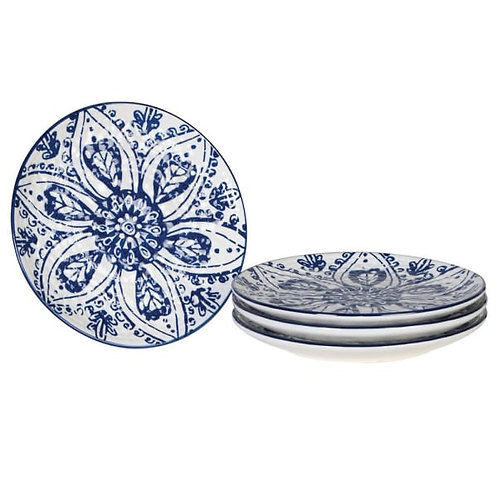 SET OF FOUR SMALL PATTERNED PLATE