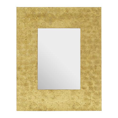 "GOLD CIRCLES PHOTO FRAME - 5""X7"""