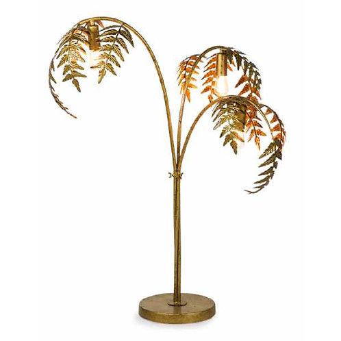 GOLD PALM LEAF LAMP