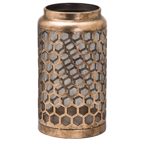LARGE GOLD HONEYCOMB LANTERN