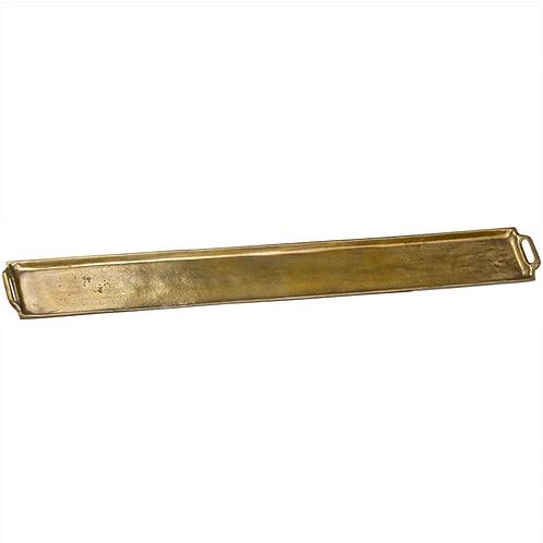 EXTRA LONG ANTIQUE GOLD SERVING PLATTER