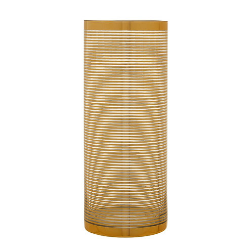 LARGE GOLD STRIPED VASE