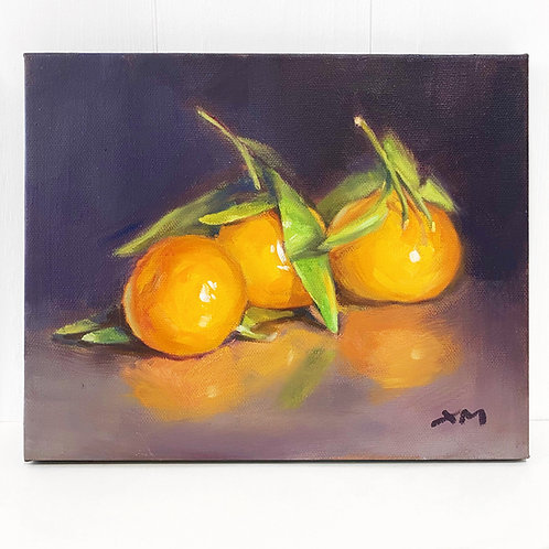 THREE CLEMENTINES - OIL ON CANVAS