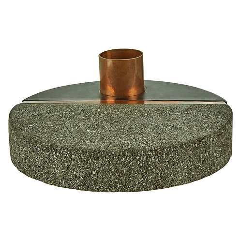 GREY LAVA STONE CANDLE HOLDER