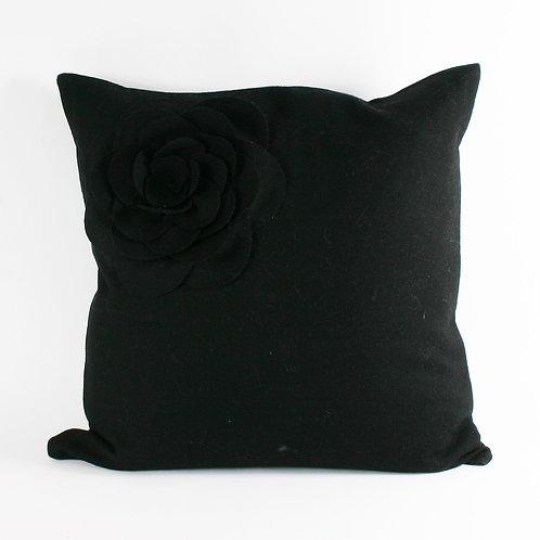 BLACK LOTUS FLOWER CUSHION
