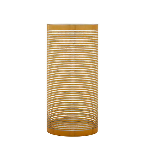 SMALL GOLD STRIPED VASE