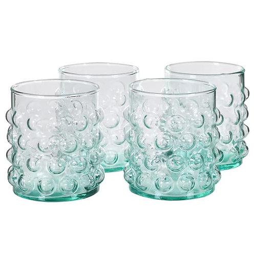 SET OF 4 BUBBLE GLASSES