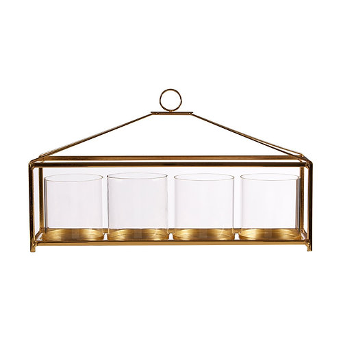 GOLD TABLE CANDLE HOLDER