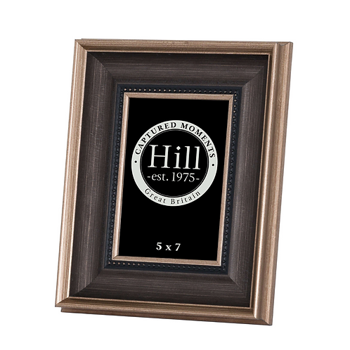 """ANTIQUE GOLD WITH BLACK DETAIL PHOTO FRAME -  5""""X7"""""""