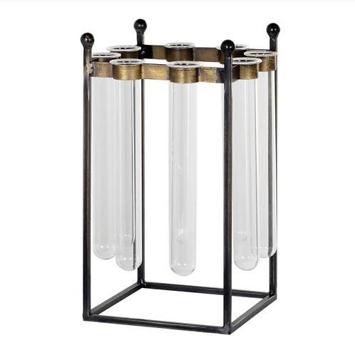 INDUSTRIAL GLASS TEST TUBE VASE