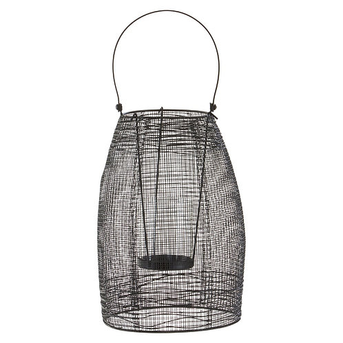 LARGE CAGE LANTERN WITH HANDLE