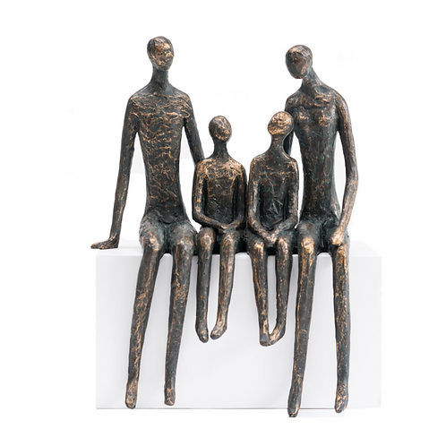 FAMILY OF 4 SCULPTURE