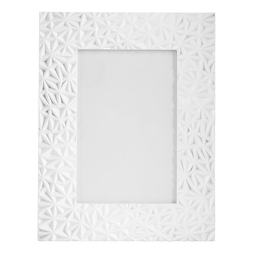 """FROST FLOWER PATTERNED PHOTO FRAME - 5""""X 7"""""""