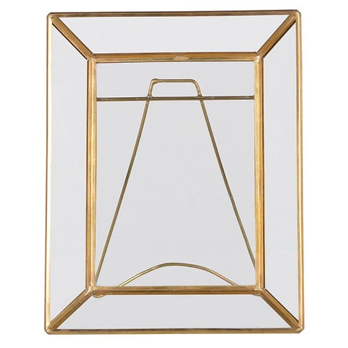 5 x7 BRASS AND GLASS PHOTO FRAME