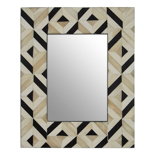 """BLACK AND IVORY GEOMETRIC PICTURE FRAME - 5""""X7"""""""