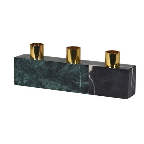 GREEN MARBLE CANDLE HOLDER