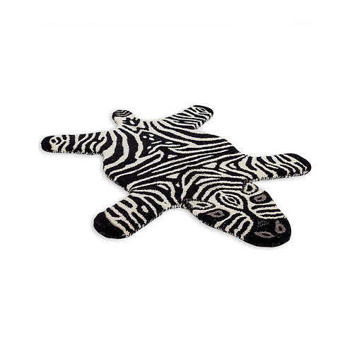 SMALL HAND TUFTED ZEBRA RUG