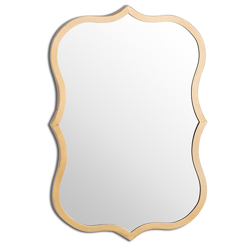 ANTIQUE GOLD CURVED MIRROR