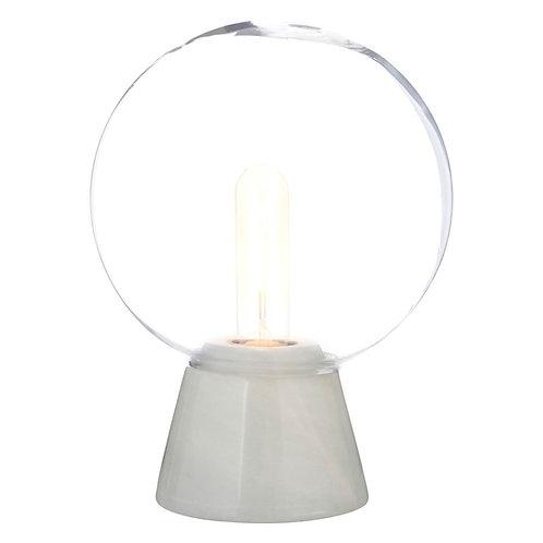 GLOBE LAMP WITH WHITE MARBLE BASE