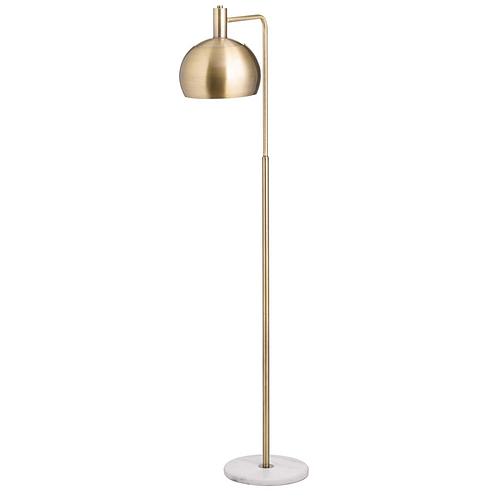 GOLD & MARBLE INDUSTRIAL ADJUSTABLE FLOOR LAMP