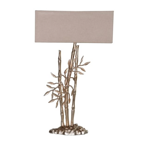 GOLD & CHAMPAGNE BAMBOO TABLE LAMP