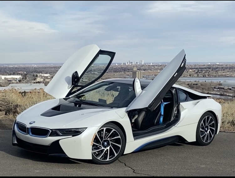 BMW i8 Both Doors Up