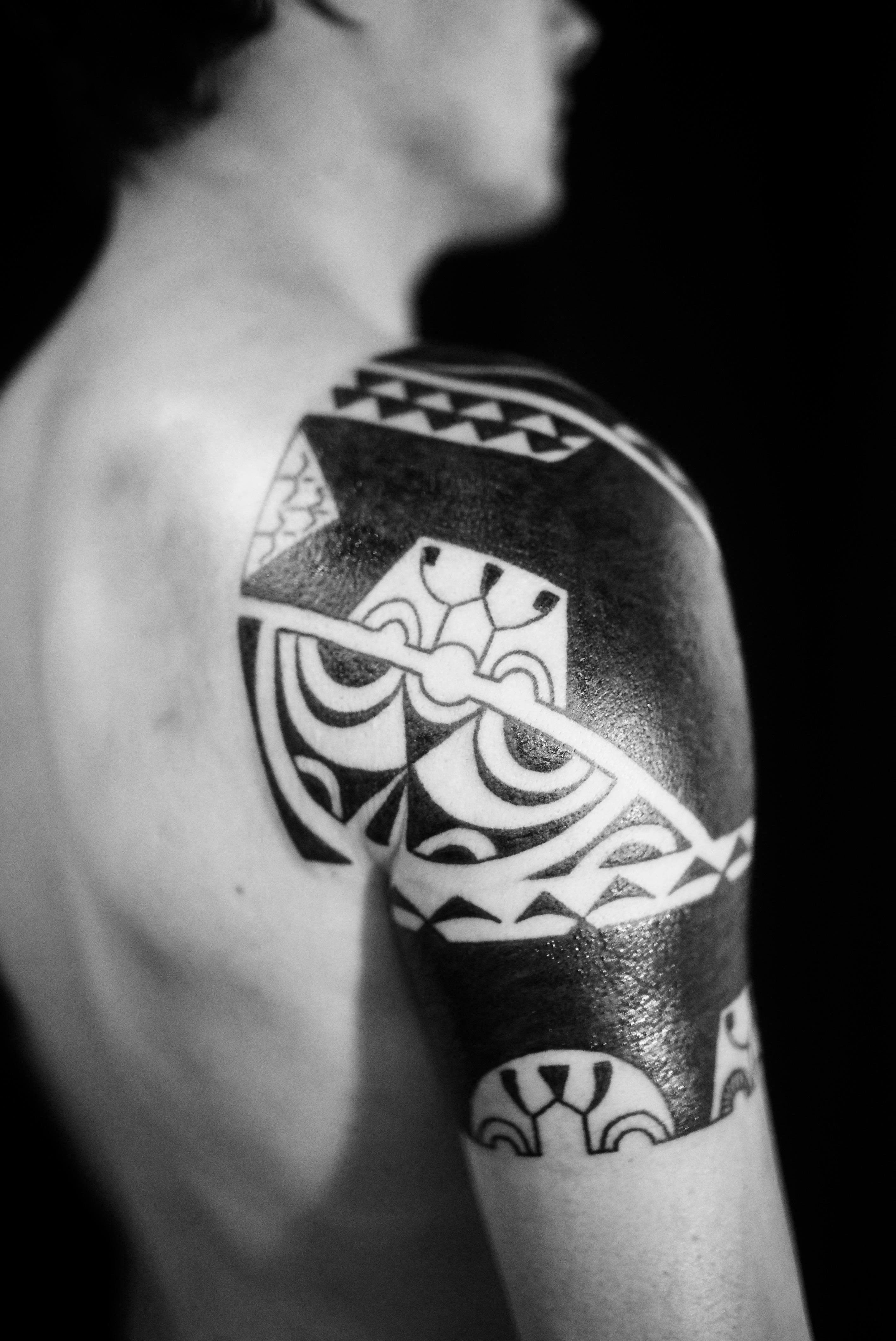 1/2 Marquesan sleeve